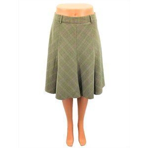 Rafaella Skirt Size 8P Brown Plaid